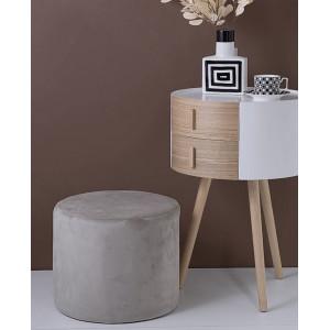 Пуфик  Soft 40*40 см, серый