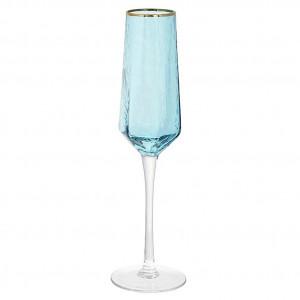 Фужеры для шампанского ICE 4 шт., бирюзовые