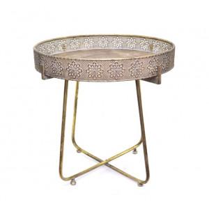 Кофейный столик с бортиками, 52х51 см.