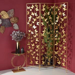 Декоративная ширма Бабочки 180х120 см., металл.