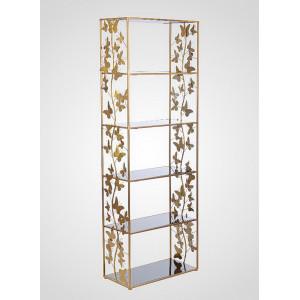 Дизайнерский стеллаж Бабочки 170x60x30 см., металл