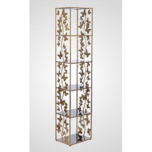 Дизайнерский стеллаж Бабочки 170x35x30 см., металл