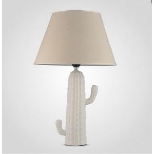 Настольная лампа Кактус 55 см., белая