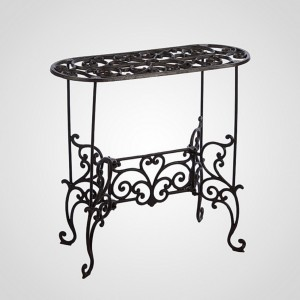 Ажурный чугунный столик, 56х52 см.