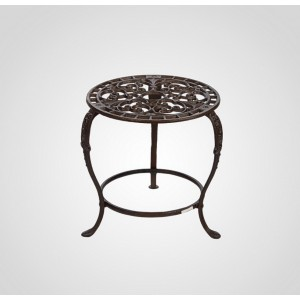 Ажурный чугунный столик-подставка, 30х30 см.