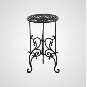 Ажурный чугунный столик-подставка, 50х28 см.