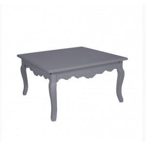 Кофейный стол прованс серо-голубой 90х90 см.