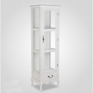 Шкаф-витрина прованс 155 см., белый