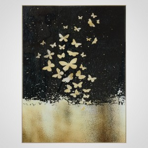 Интерьерное Панно Golden Butterflies 60x80 см.
