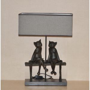 """Настольная лампа """"Две кошки на скамейке"""""""