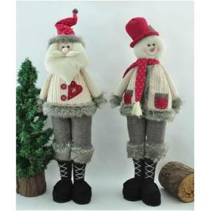 Интерьерные Снеговик и Дед Мороз 80 см.