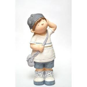 """Фигура декоративная """"Мальчик с сумкой"""" 50 см."""
