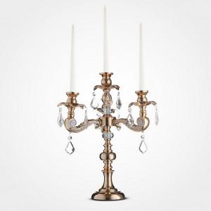 Подсвечник-канделябр на 4 свечи, 45 см., золот