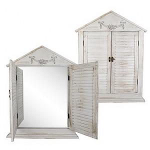 Зеркало-ставни в стиле прованс 70 см.