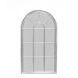 Зеркало-окно прованс 140х80 см., серебро